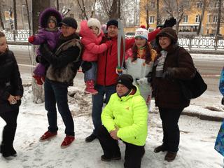 Ирина Ситникова и группа поддержки из Слободского