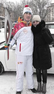 Егор Катаев с мамой
