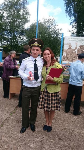 Денис с мамой Надеждой Анатольевной