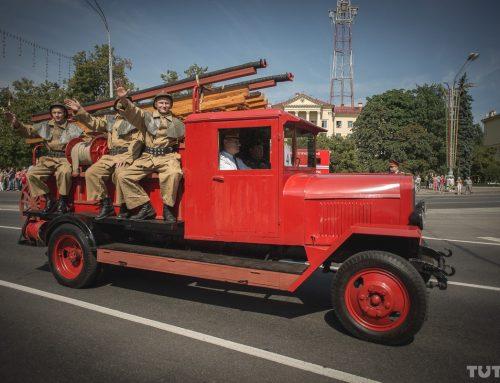 Парад пожарной ретро техники в Слободском