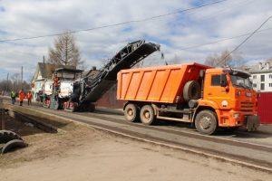 СУ-43 приступило к работам на дорогах города