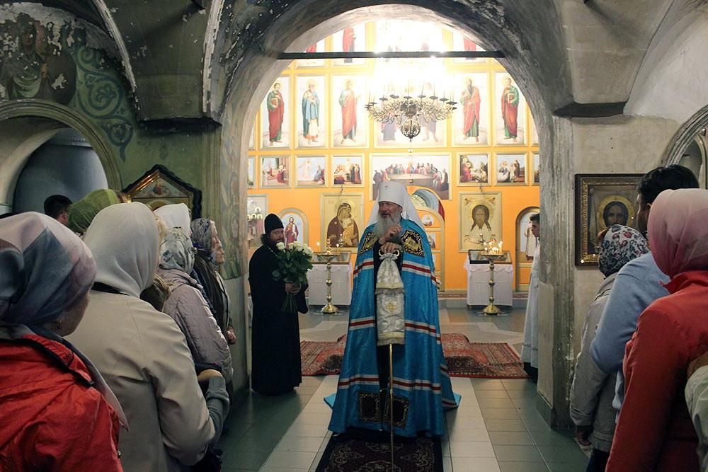 Митрополит Марк возглавил всенощное бдение в престольный праздник Преображенского храма в Первомайском