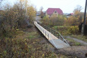 Субботник у мостика на Комсомольской