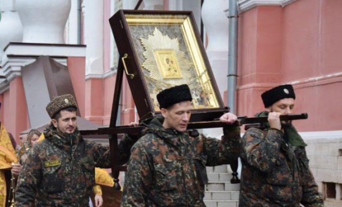 В Вятскую митрополию прибыл казачий крестный ход с иконой Божией Матери «Избавительница от бед».