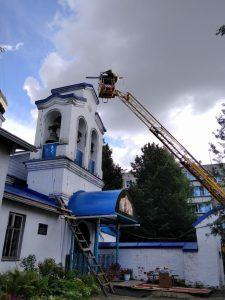 Начинается ремонт колокольни в Светлицах